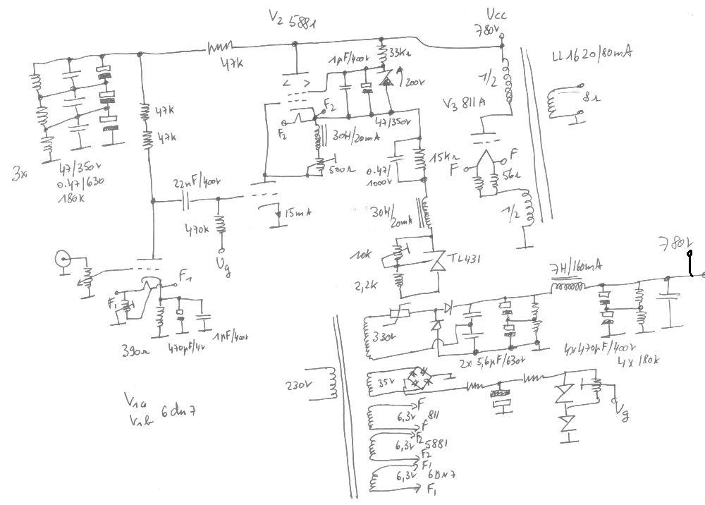 845 pp monoblok eindversterker hi end amplifier met kt 66 driver